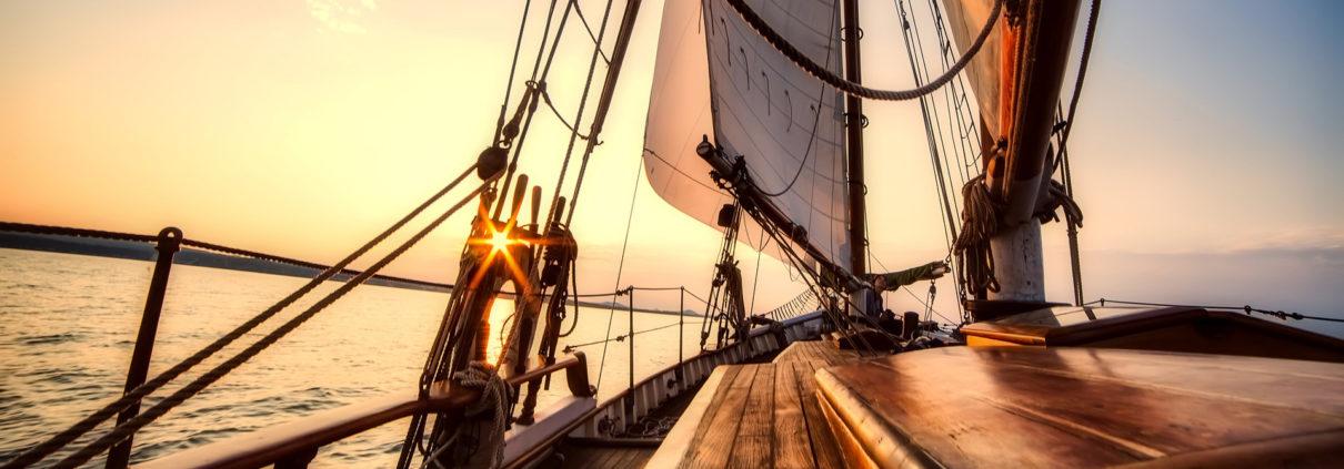 Boat using Eniros nautical app