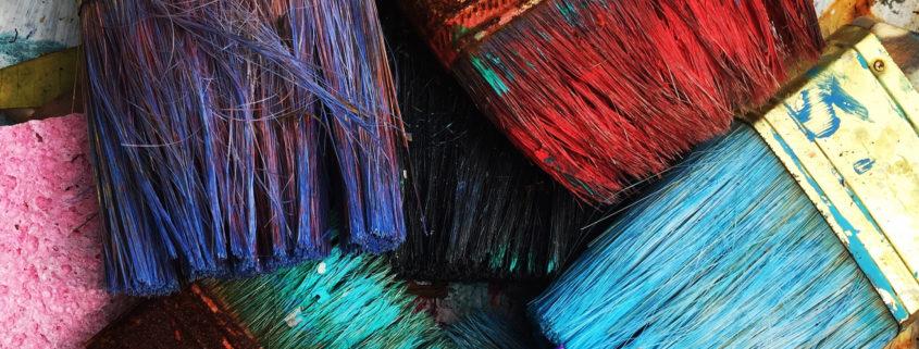 Pensler viser forskjellige farger